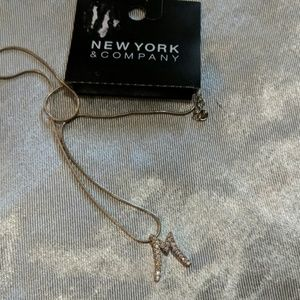 New York & Company Jewelry - M initial necklace